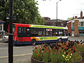 Church Street, Nuneaton - Stagecoach bus - tulips and flowers (17829718021).jpg