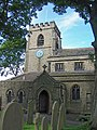 Church Tower, Door and Cemetery, St Mary's, Bolsterstone - geograph.org.uk - 1626656.jpg