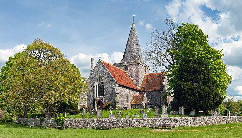 File:Church of St. Andrew, Alfriston, England Crop - May 2009.jpg-کلیسای قدیمی-http://nexusgallery.mihanblog.com/-