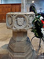 Church of St John, Finchingfield Essex England - Baptismal font.jpg