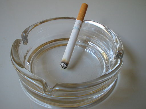 Cigarette in ashtray (option 2 of 2)