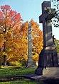 "Cincinnati - Spring Grove Cemetery & Arboretum ""Cross & Obelisk in Autumn"" (6314031973).jpg"