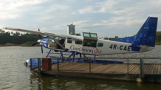 Cinnamon Air - A Cinnamon Air aircraft on Diyawanna Oya in Sri Lanka