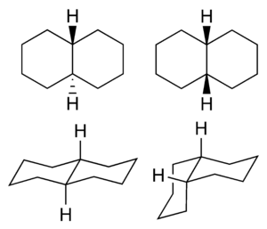 Decalin - Image: Cis trans isomerism of decahydronaphthalene