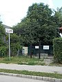 City limit sign and waterworks, Majki street, 2018 Oroszlány.jpg