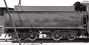 South African type MP1 tender - Image: Class 16B Type MP1 tender no. 805 a