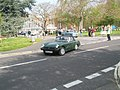 Classic sports car leaving the Civic Centre at the start of the 2009 Havant Mayor's Rally - geograph.org.uk - 1259987.jpg