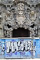 Classical Facade with Graffitied Gate - Madrid - Spain.jpg