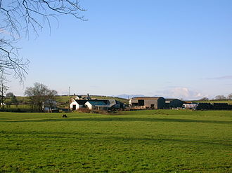 Dunlop cheese - A view of Clerkland Farm in East Ayrshire where Dunlop Cheese is still made. 2007.