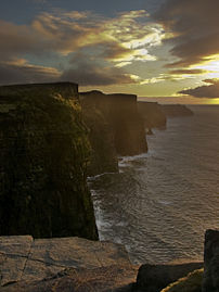 The Cliffs in the last of the light in Februar...