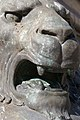 Close-up of lion on plinth of statue of the Black Prince - geograph.org.uk - 1385610.jpg