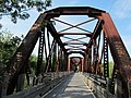 Closeup, Washington Secondary Trail truss bridge over South Branch, Pawtuxet River, West Warwick, Rhode Island.JPG