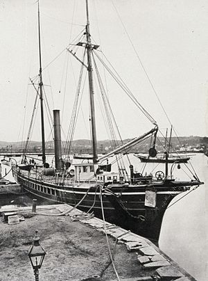 USC&GS George S. Blake - Coast and Geodetic Survey steamer Blake, Washington Navy Yard, c. 1880.