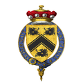 Coat of Arms of Peter Carington, 6th Baron Carrington, KG, GCMG, CH, MC, PC, DL.png