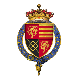 William FitzAlan, 18th Earl of Arundel - Arms of Sir William FitzAlan, 18th Earl of Arundel, KG