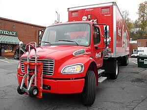 English: Coca Cola Freightliner M2 tractor sho...