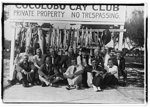 Biscayne National Park - U.S. President Warren G. Harding and fishing party at the Cocolobo Cay Club