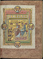 Codex Caesareus Upsaliensis - Uppsala UB C93 f4r (Henri III offering the book to saint Simon & Jude).jpg