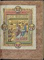 Codex Caesareus Upsaliensis - Uppsala UB C93 f4r (Henri III offering the book to saint Simon & Jude).jpg