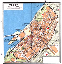 karta visby innerstad Visby – Wikipedia karta visby innerstad