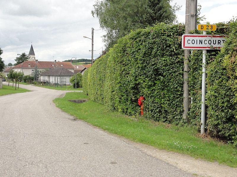 Coincourt (M-et-M) city limit sign