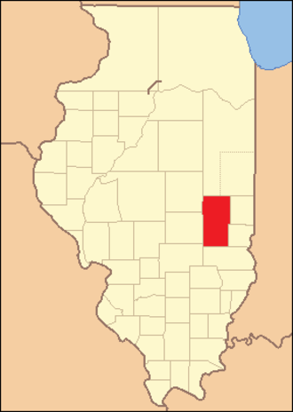 Coles County, Illinois - Image: Coles County Illinois 1830