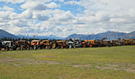 Collection of old tractors outside of Wanaka Transport and Toy Museum.jpg