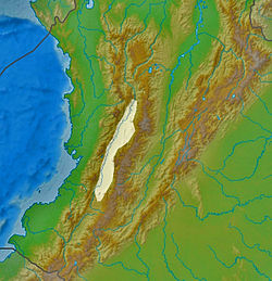 Map showing the location of Cauca Valley dry forest