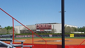 Colonels Softball Complex - Image: Colonels Softball Complex (Thibodaux, Louisiana) scoreboard