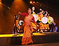 Colorful cultural performance by artistes, on the occasion of the 12th South Asian Games-2016, at Indira Gandhi Athletics Stadium, in Guwahati, Assam on February 05, 2016 (2).jpg
