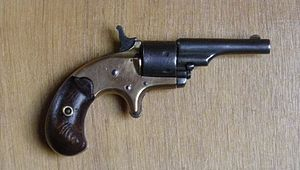 Colt Open Top Pocket Model Revolver - Image: Colt Open Top .22