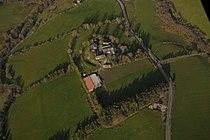 Colwyn Castle, Powys, aerial view.jpg