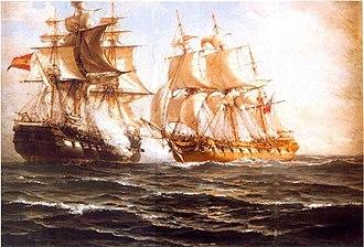 Chilean ship Lautaro (1818) - Image: Combate de Valparaiso sommerscale