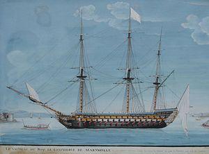 French ship Commerce de Marseille (1788) - Image: Commerce de marseille 2