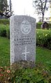 Commonwealth War Graves gravestone of L. B. Whittam in Tromsø 2.jpg