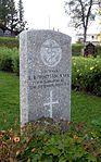 Commonwealth War Graves gravestone of L. B. Whittam in Tromsø 2.jpg