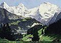 Compton, Sommertag im Berner Oberland mit Eiger, Mönch und Jungfrau.jpg