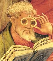 The 'Glasses Apostle' by Conrad von Soest (1403)