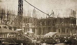 St. La Salle Hall - Image: Construction taft