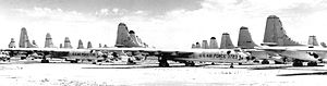 Convair B-36s at AMARC 1958 awaiting scrapping.jpg