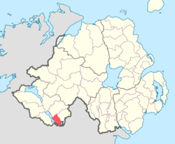 Location of Coole, County Fermanagh, Northern Ireland.
