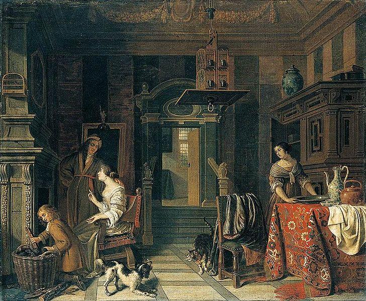 File:Cornelis de Man - Interior of a Townhouse - WGA13907.jpg