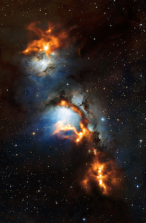 Reflection nebula - Image: Cosmic dust clouds in reflection nebula Messier 78