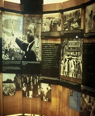 African Americans in Atlanta - Courage to Lead exhibit at the Visitor Center of the Martin Luther King, Jr., National Historic Site