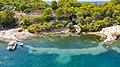 Cove at Zogeria Bay on Spetses island, Greece (48760291512).jpg