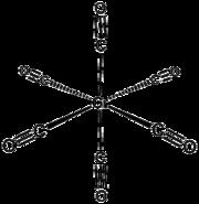 Struktur von Chromhexacarbonyl