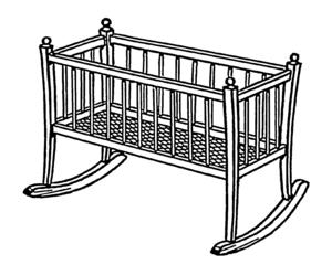Cradle (bed) - Rocking cradle