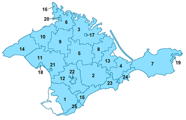 Subdivisions of Crimea
