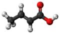Crotonic acid 3D ball.png
