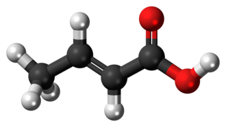 Crotonic acid - Image: Crotonic acid 3D ball